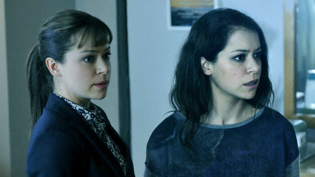 """TATIANA MASLANY, ORPHAN BLACK - The sheer audacity and gimmickry of what she is attempting - playing eight clones (and counting) - would shoot her to the top of the Emmy list, you would think. But the talent and skill Maslany exhibits, subtly defining each """"sister"""" as her own authentic and differen"""