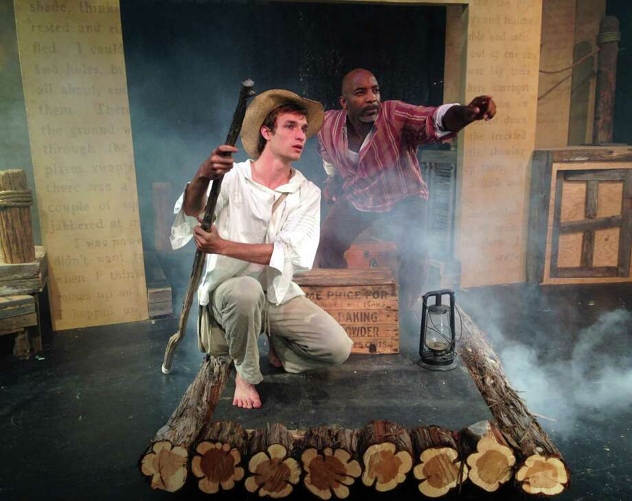 "Neil Redfield and Dwight Robinson play Huck and Jim in the Cameo Theatre's staging of ""Big River."" Photo: Courtesy Cameo Theatre"