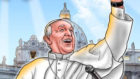 "The front cover of publisher Really Big Coloring Books' ""The Pope Francis Coloring and Activity Book."" The book aims to educate youngsters about the head of the Catholic Church. (Courtesy of Really Big Coloring Books)"