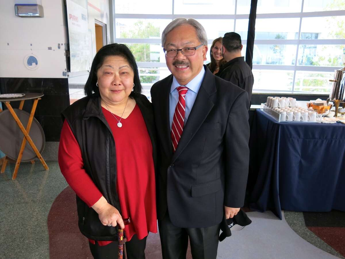 Rose Pak and Mayor Ed Lee celebrate the Fourth of July during the mayor's party at the SF Maritime Museum.
