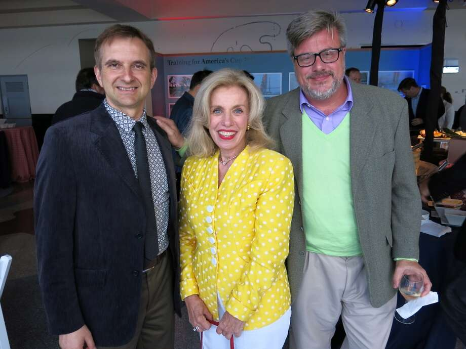 Italian Consul General Mauro Battocchi (left) with Jojo Osgood and his partner, Asher Berry. Photo: Catherine Bigelow