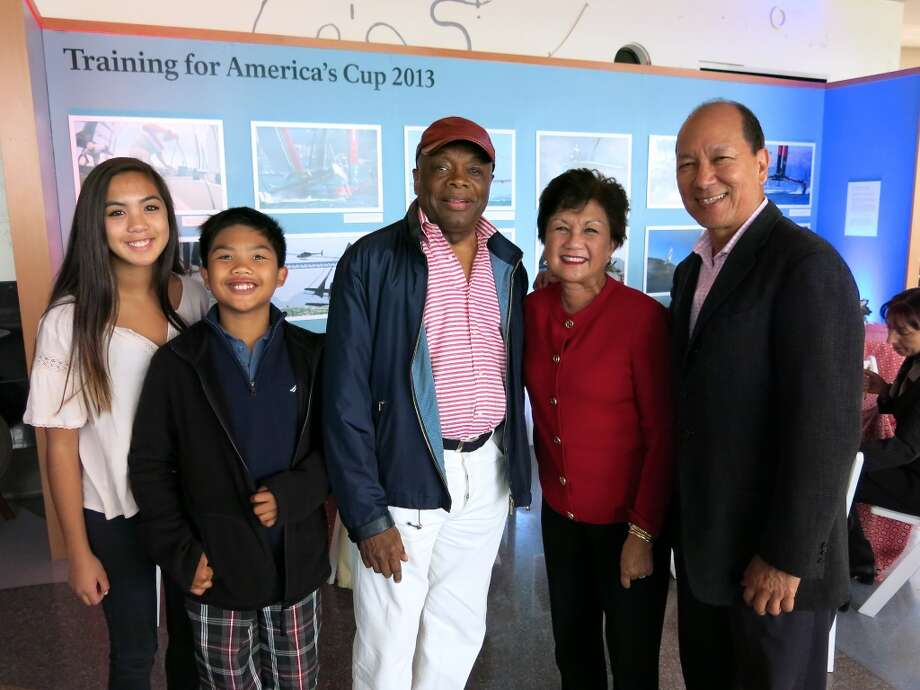 Catherine Colet with her brother, Ralph, Da Mayor Willie Brown, her mom, SF-Manila Sister City Committee chairwoman Carmen Colet and her dad, Johnny Colet. Photo: Catherine Bigelow