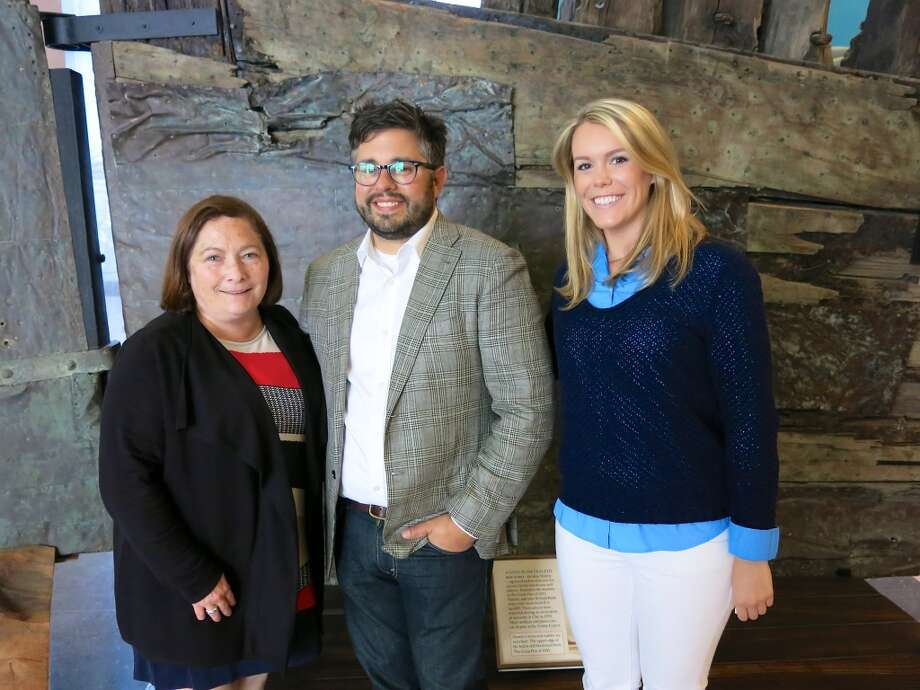 Mayoral Special Events organizer Martha Cohen (left) with Protocol Director Matthew Goudeau and his colleague, Caitlin Jacobson. Photo: Catherine Bigelow