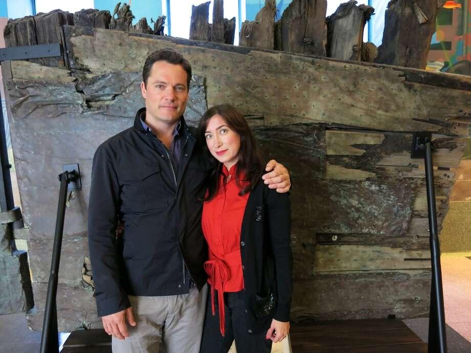 Alex Katz and his fiancee, Danielle DuCaine. Photo: Catherine Bigelow