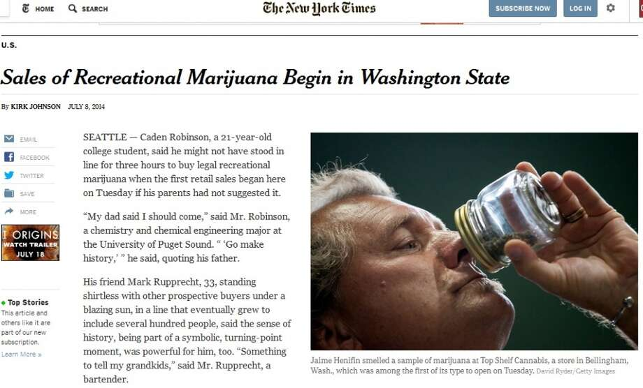 The New York Timescovered the openings in both Bellingham and Seattle.