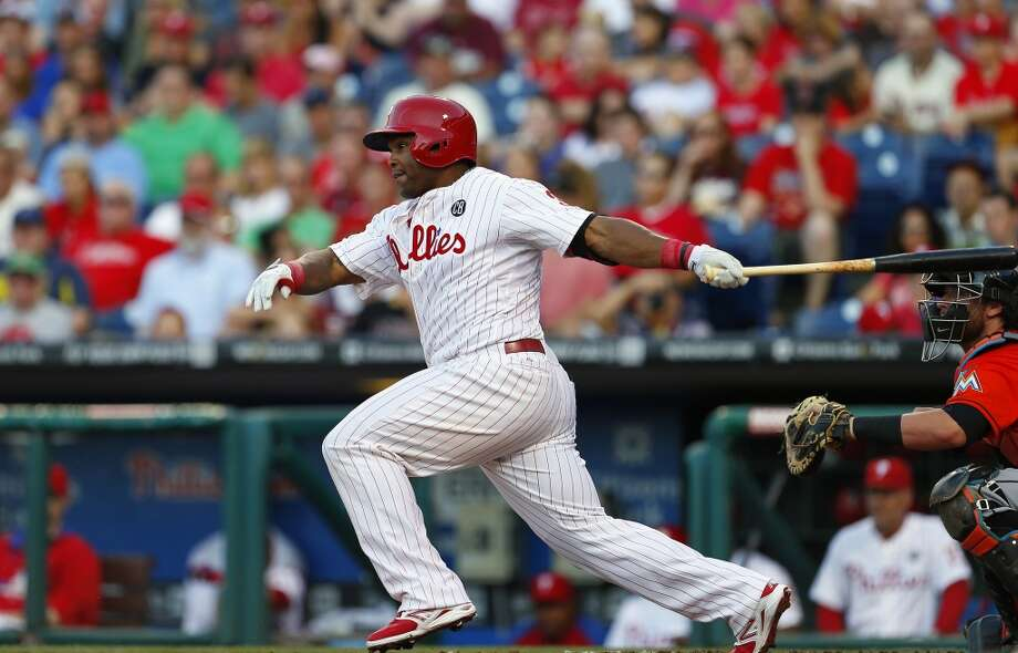 Potential trade targets Marlon Byrd — OF, Philadelphia Phillies 2014 stats: .263 average, 89 games, 342 at-bats, 90 hits, 52 RBIs, 18 home runs, 1 stolen base Byrd has plenty of power, and could certainly be a solid replacement for Dustin Ackley in the outfield. He'd provide a solid right-handed bat in the middle of the order, and with the Phillies in last place in the N.L. East, they'll likely be open to most discussions. Photo: Rich Schultz, Getty Images