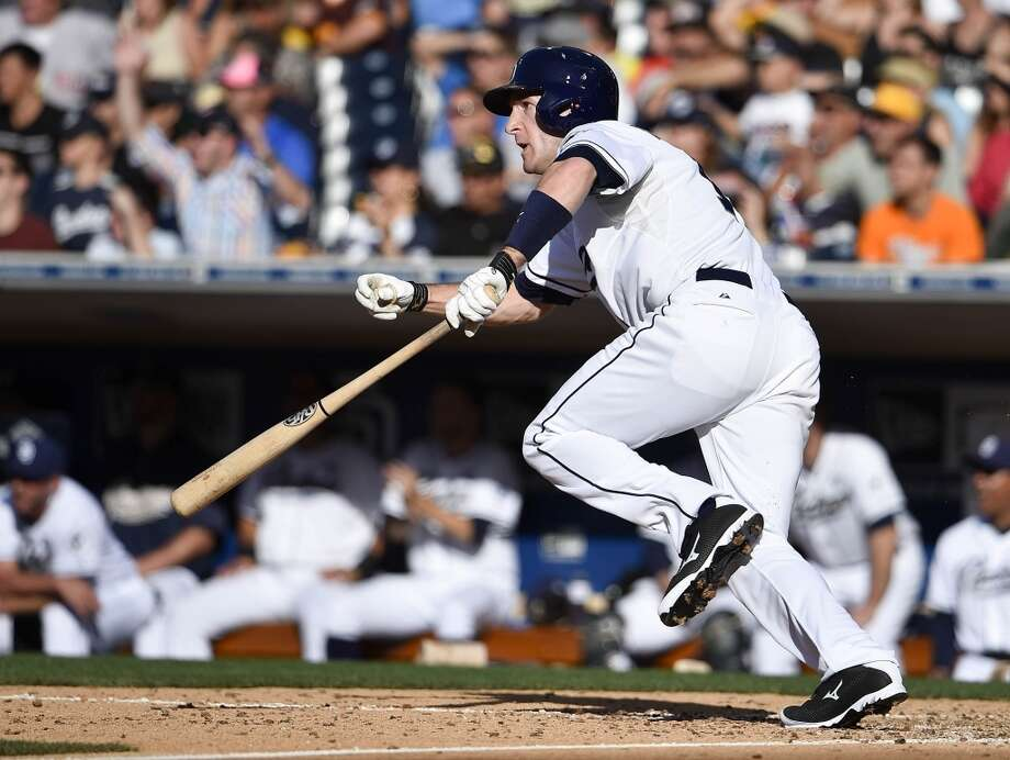 Chris Denorfia — OF, San Diego Padres 2014 stats: .254 average, 76 games, 209 at-bats, 53 hits, 15 RBIs, 1 home run, 7 stolen base He isn't a power hitter, necessarily, but the veteran righty has historically demolished left-handed pitching, with a .301 average against lefties since 2005. He's only hitting .231 against lefties this season, however, but he would be a decent platoon player in either corner of the outfield. Photo: Denis Poroy, Getty Images