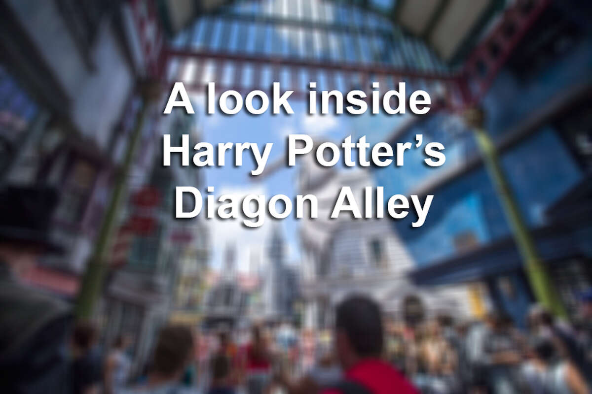 Visitors are waiting hours to get on the ride, Harry Potter and the Escape from Gringotts, located in the new Diagon Alley section of Universal Studios. Click ahead for a look at the shops and restaurants inside the new attraction.