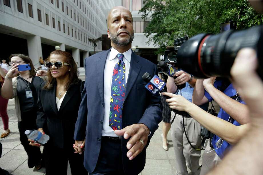 Former New Orleans Mayor Ray Nagin, leaving federal court Wednesday with his wife, Seletha Nagin, likely will serve his sentence in a nearby prison. Photo: Gerald Herbert, STF / AP