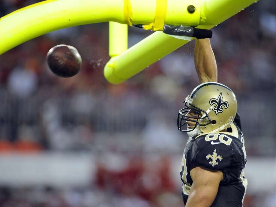 10. Jimmy GrahamTight end | New Orleans Saints | 2013 rank: NA2013 stats: 86 receptions, 1,215 yards, 16 touchdownsThe four-year veteran became the first tight end ever ranked in the countdown's top 10. Photo: Brian Blanco, Associated Press