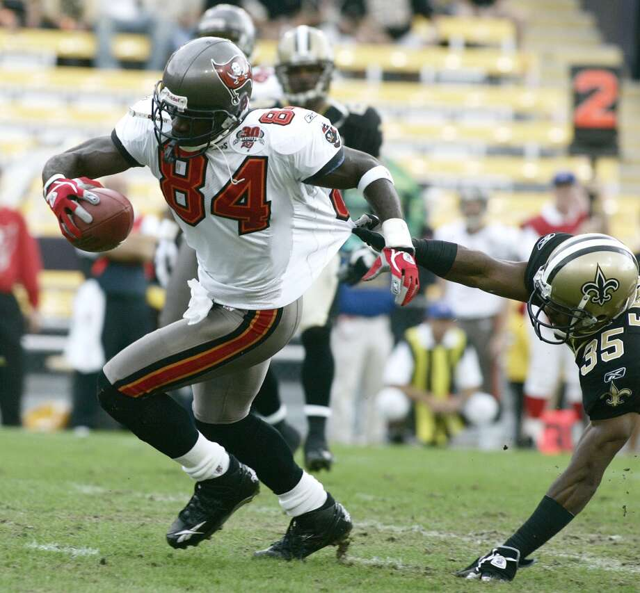 Joey Galloway, Bucs                      Season: 2005       Age: 34           Catches: 83           Yards: 1,287       Touchdowns: 10 Photo: Gail Oskin, Getty Images