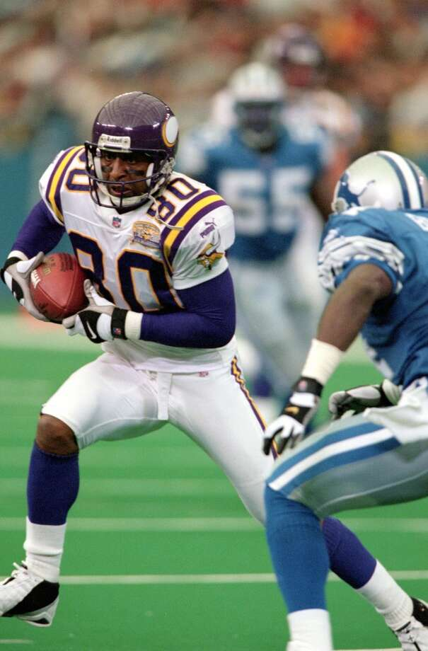 Cris Carter, Vikings Season: 2000 Age: 35 Catches: 96 Yards: 1,274 Touchdowns: 9 Photo: Tom Pidgeon, Getty Images