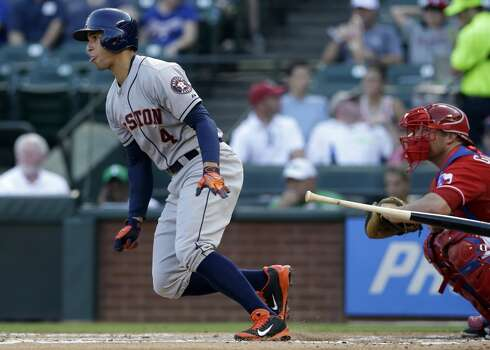 July 9: Astros 8, Rangers 4  George Springer was back at it in the batter's box and field, leading the Astros to a sweep of the Rangers.  Record: 39-54. Photo: Tony Gutierrez, Associated Press