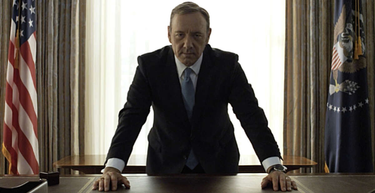 Frank Underwood Frank's scheming has taken him from Majority Whip, to the VP's office and finally to the most powerful position in the world. He survived a political war with billionaire Raymond Tusk, turned the president's cabinet and congress against him and convinced Garrett Walker to step down. He left us with his signature ring tap on his desk.