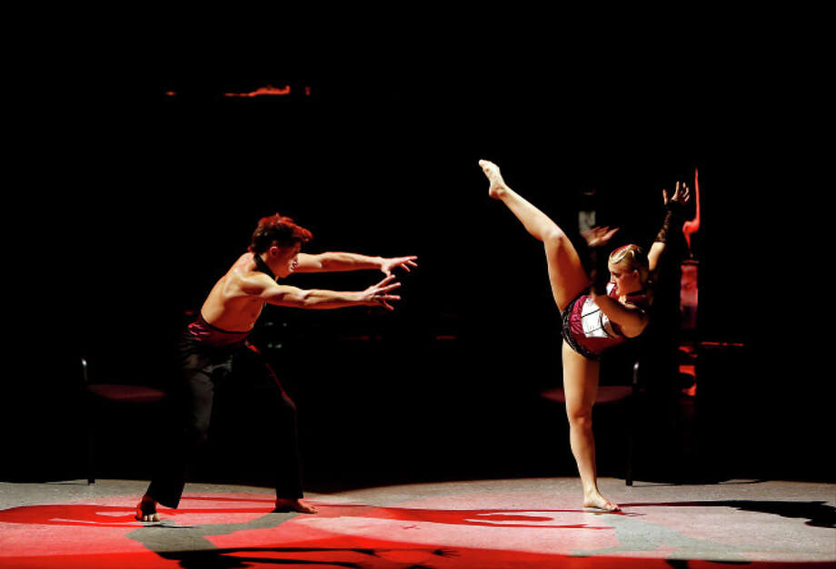 """SO YOU THINK YOU CAN DANCE: L-R: Top 20 contestants Rudy Abreu and Tanisha Belnap perform a Jazz routine to """"You Need"""" choreographed by Sonya Tayeh on SO YOU THINK YOU CAN DANCE airing Wednesday, July 9 (8:00-10:00 PM ET/PT) on FOX. ©2014 FOX Broadcasting Co. Cr: Adam Rose"""