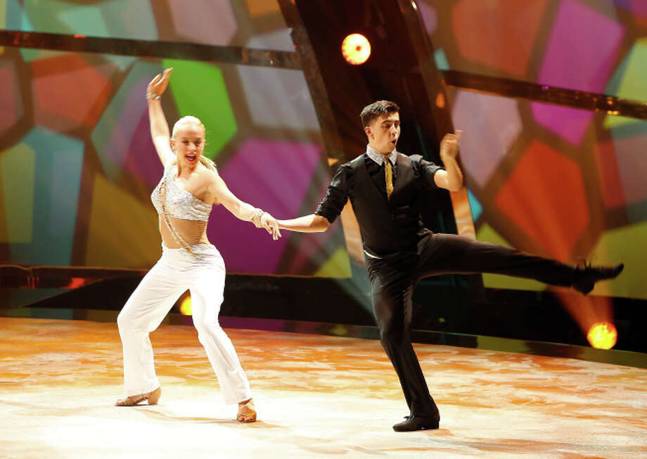 "SO YOU THINK YOU CAN DANCE: L-R: Top 20 contestants Jessica Richens and Nick Garcia perform a West Coast Swing routine to ""Respect"" choreographed by Benji Schwimmer on SO YOU THINK YOU CAN DANCE airing Wednesday, July 9 (8:00-10:00 PM ET/PT) on FOX. ©2014 FOX Broadcasting Co. Cr: Adam Rose"