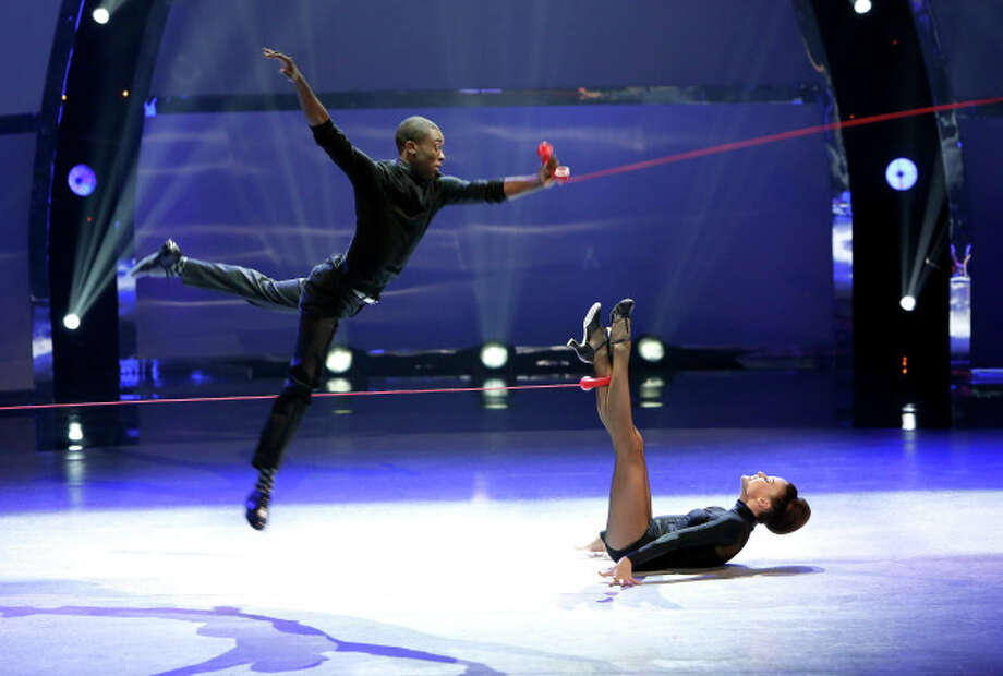 """SO YOU THINK YOU CAN DANCE: L-R: Top 20 contestants Stanley Glover and Malene Ostergaard perform a Broadway routine to """"I've Got Your Number"""" choreographed by Spencer Liff on SO YOU THINK YOU CAN DANCE airing Wednesday, July 9 (8:00-10:00 PM ET/PT) on FOX. ©2014 FOX Broadcasting Co. Cr: Adam Rose"""
