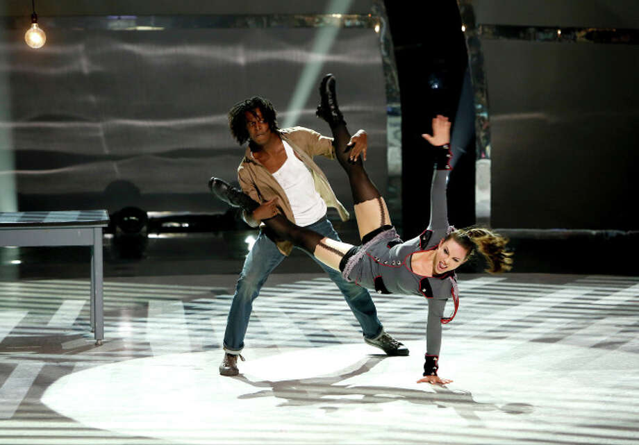 "SO YOU THINK YOU CAN DANCE: L-R: Top 20 contestants Marcquet Hill and Jourdan Epstein perform a Jazz routine to ""Work Work"" choreographed by Sean Cheesman on SO YOU THINK YOU CAN DANCE airing Wednesday, July 9 (8:00-10:00 PM ET/PT) on FOX. ©2014 FOX Broadcasting Co. Cr: Adam Rose"