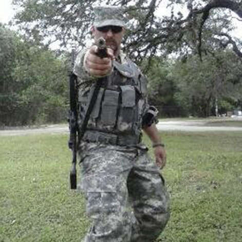 """Chris Davis, a 37-year-old truck driver who was discharged from the Army in lieu of court martial, is leading a citizen militia of """"Patriots"""" who want to """"secure the border."""" Photo: Courtesy,  Facebook"""