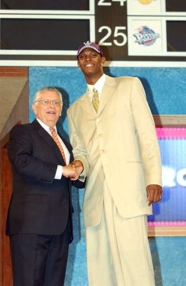 2003 NBA draft  The Toronto Raptors selected Bosh with the fourth overall pick. Photo: Jesse D. Garrabrant, NBAE/Getty Images / 2003 NBAE