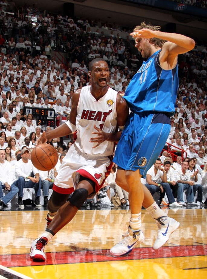 2010-11 season  Bosh and the Heat reached the Finals in the first year of the Big 3 era, but couldn't overcome Dirk Nowitzki and the Mavs in the 2011 NBA Finals. Photo: Nathaniel S. Butler, NBAE/Getty Images / 2011 NBAE