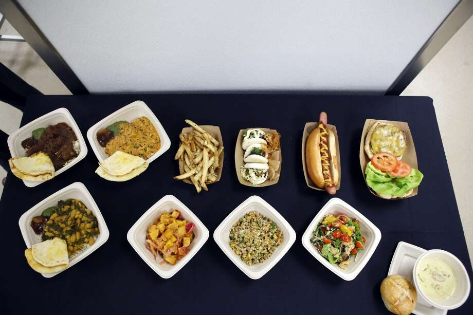 A table displays food items that will be available to fans at the 49ers' new Levi's Stadium in Santa Clara, CA, Wednesday, July 9, 2014. Photo: Michael Short, The Chronicle