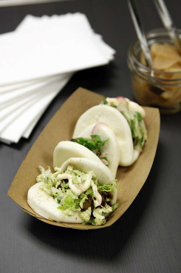 The Steamed Buns come in three flavors, Pekind Duck, Pork Belly and Portobello. Photo: Michael Short, The Chronicle