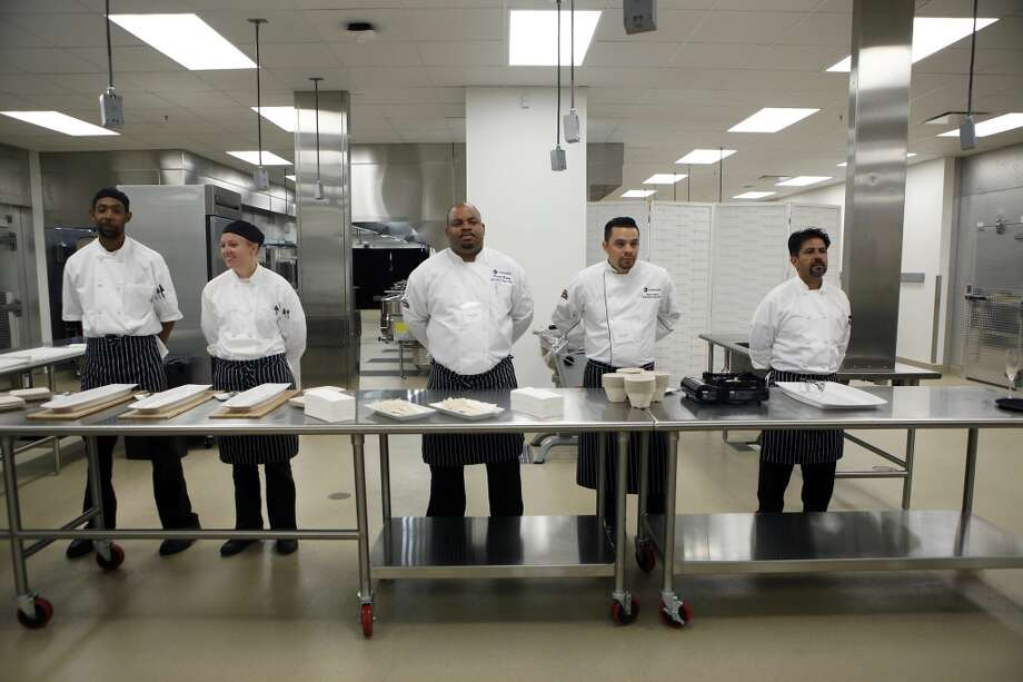 Chefs stand at the ready during a media tour of the kitchen area of the 49ers' new Levi's Stadium in Santa Clara, CA, Wednesday, July 9, 2014. Photo: Michael Short, The Chronicle