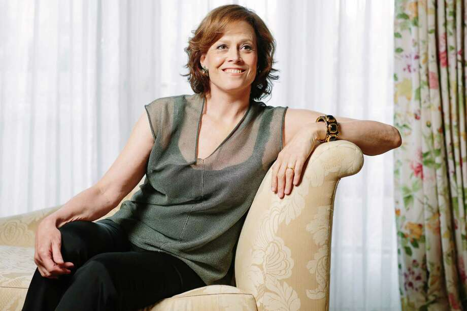 "This June 1, 2014 photo shows actress Sigourney Weaver posing at The Peninsula Hotel during media day for the Alien video game and 35th anniversary release of  the film, ""Alien,"" in Beverly Hills, Calif. Weaver, who portrayed unflappable officer Ellen Ripley in the ""Alien"" film franchise is reprising her role in ""Alien: Isolation,"" an upcoming video game set after the events of the original 1979 film. (Photo by Casey Curry/Invision/AP) Photo: Casey Curry, INVL / Invision"