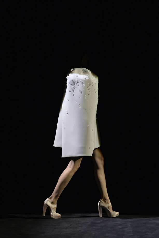 Half-off sale today only: A model presents a creation by Dice Kayek during the 2014/2015 Haute 