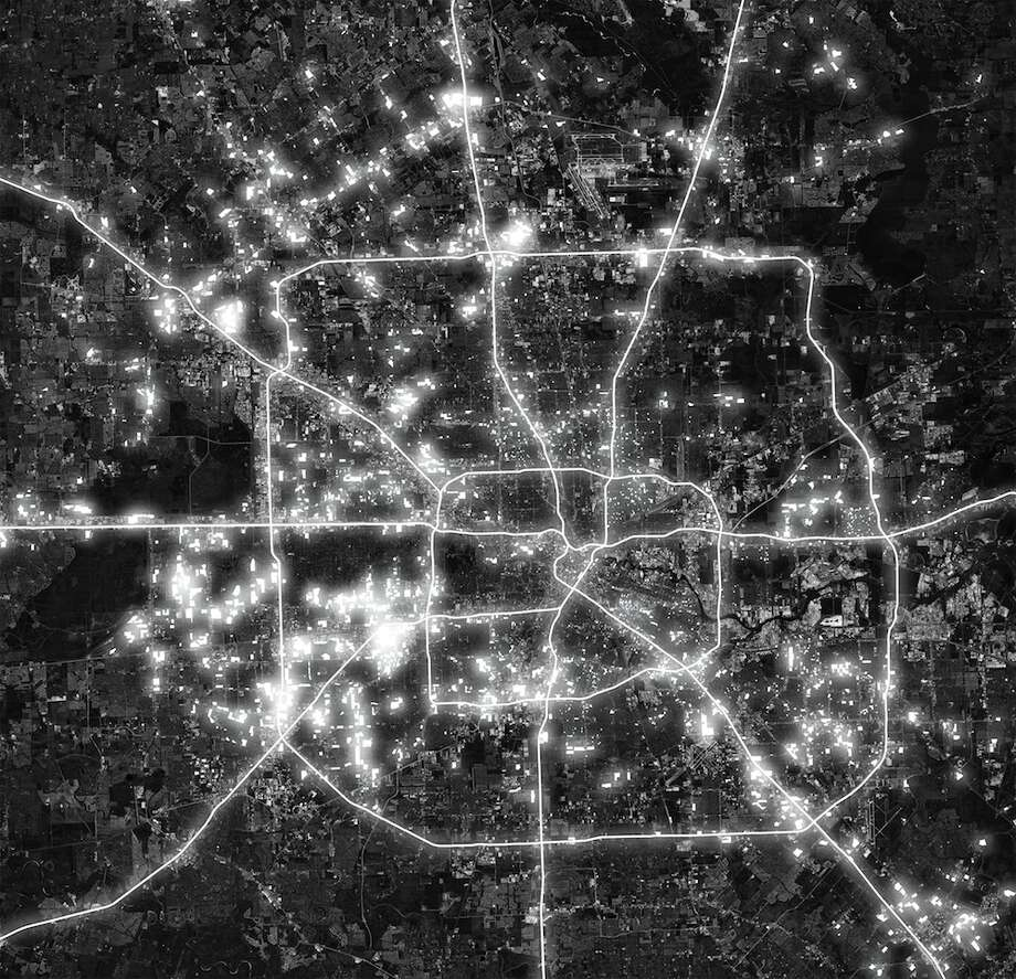 A heat map of multi-family housing in Houston. Photo: By Rose Lee, Cite Magazine,  Spring 2014