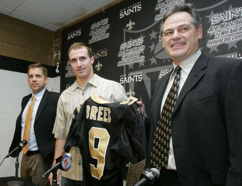 2006: Brees blows into the Big EasyA late-season shoulder injury -- and a first-round quarterback waiting in the wings -- persuaded the San Diego Chargers to let Drew Brees walk following the 2005 season. Their loss was New Orleans' gain after the Saints signed him to a six-year, $60 million deal. In eight seasons on the bayou, Brees has thrown for 5,000 or more four times while leading the team to five playoff berths and a Super Bowl XLIV victory. Photo: BILL HABER, ASSOCIATED PRESS / AP2006