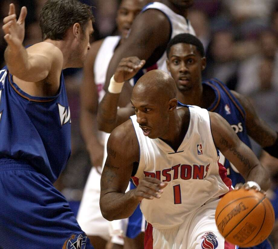 2002: Billups bounces backFour teams and five years into his NBA career, Chauncey Billups was considered a journeyman at best -- and draft bust at worst -- when he signed a six-year, $35 million contract with the Detroit Pistons in 2002. But the former No. 3 pick overall blossomed in Motown, becoming a team leader and helping the Pistons to an NBA championship in 2004 and another finals appearance in 2005. Photo: JEFF KOWALSKY, AFP/Getty Images / AFP
