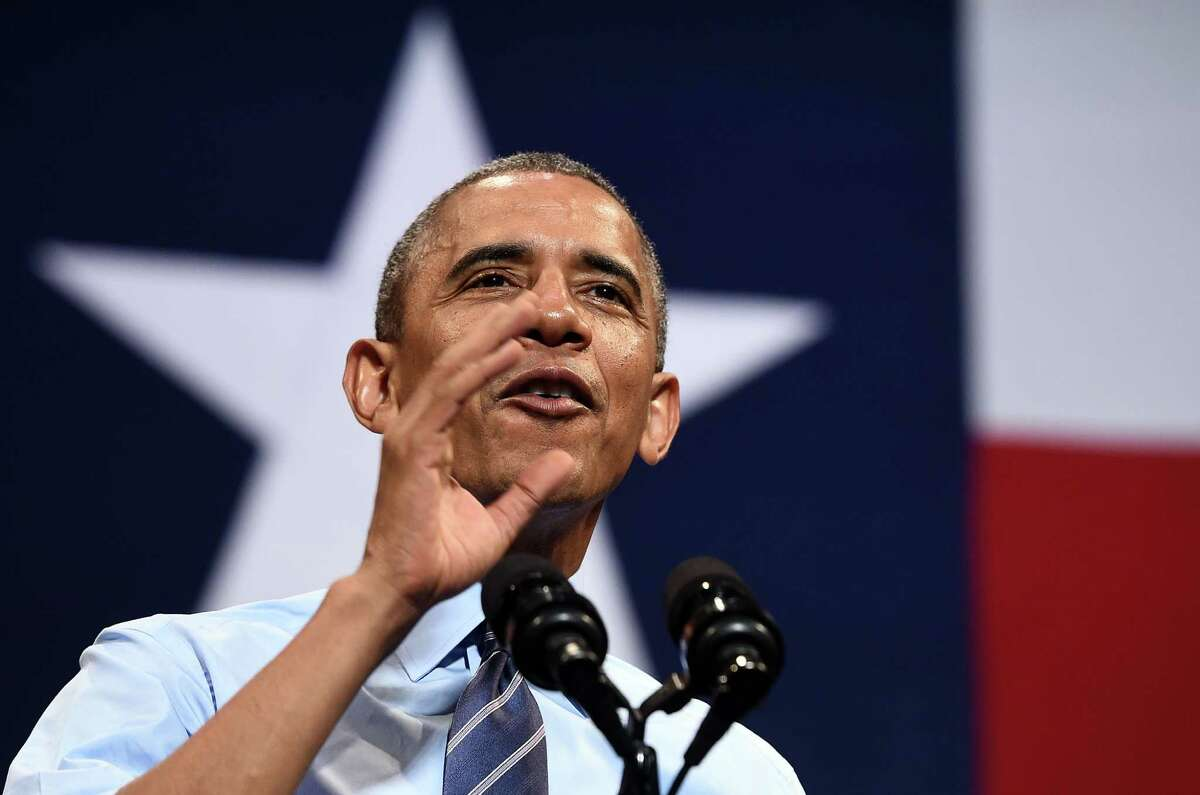 US President Barack Obama speaks on the economy at the Paramount Theatre in Austin, Texas, on July 10, 2014. Obama hailed new data showing the US economy churned out 288,000 jobs in June as a sign the long US recovery is gathering momentum. AFP PHOTO/Jewel SamadJEWEL SAMAD/AFP/Getty Images