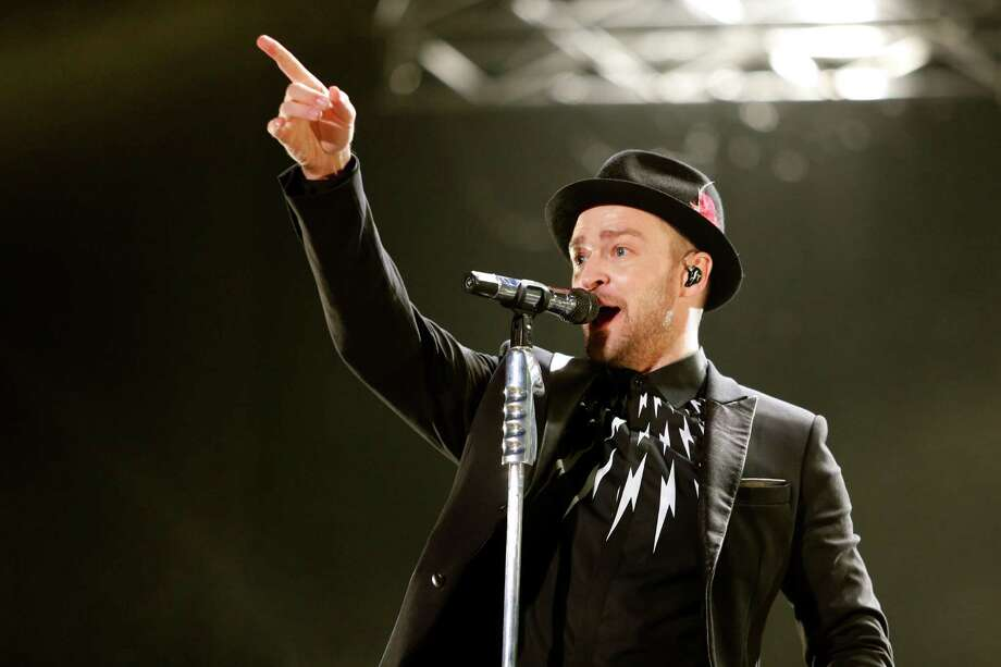 Justin Timberlake performs during a concert at Morocco's annual Mawazine Music Festival, in Rabat, Morocco, Friday, May 30, 2014. (AP Photo /Abdeljalil Bounhar) ORG XMIT: RAB114 Photo: Abdeljalil Bounhar / AP