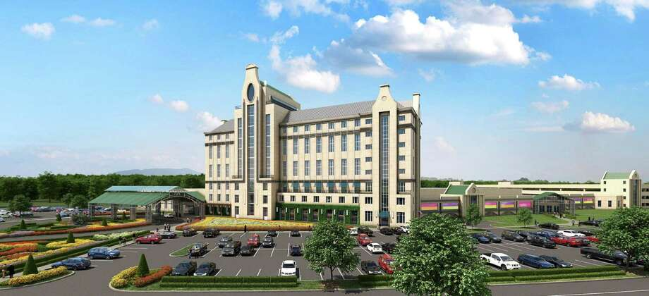The East Greenbush casino partnership — Saratoga Gaming and Racing and Churchill Downs Inc. — have released this new rendering of their proposed $300 million casino development on Thompson Hill. (Courtesy Capital View Casino & Resort)