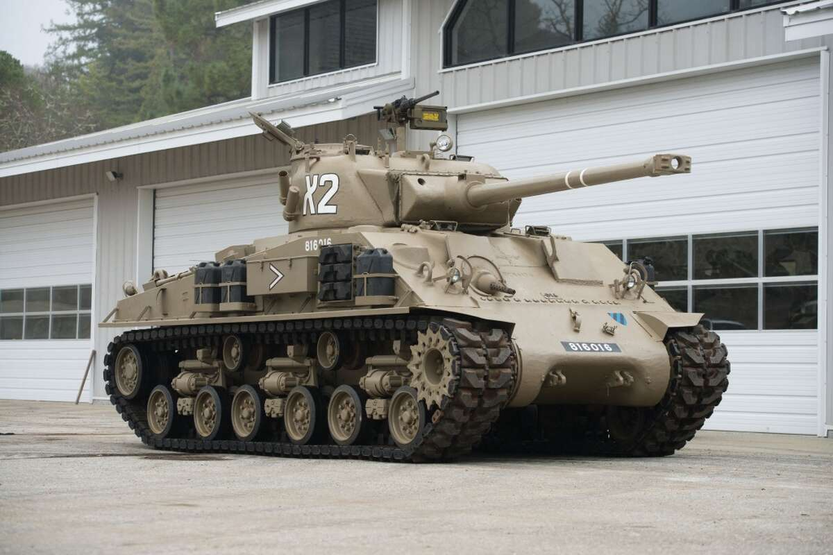 Officially known as an M50 Israeli Sherman Medium Tank, this vehicle was used during the 1967 Six Day War. (Courtesy Auctions America)