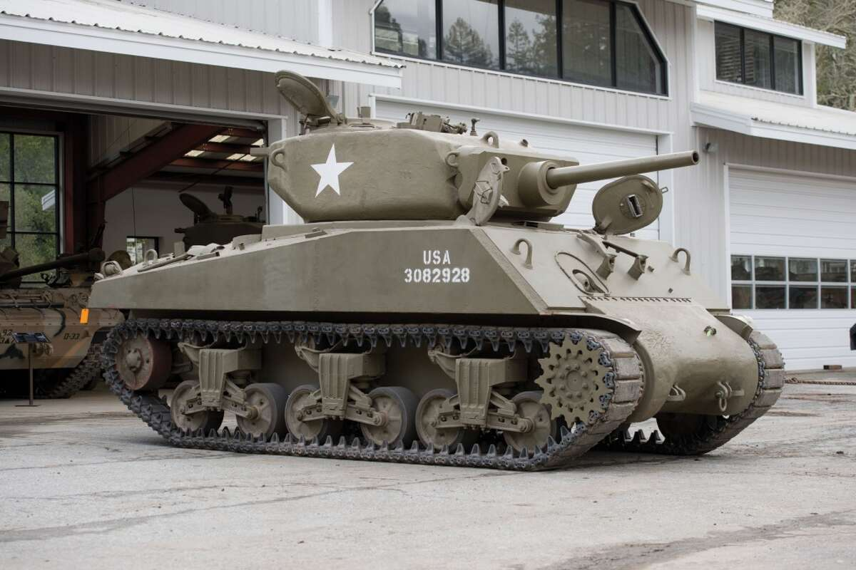 """This M4A3E2 Assault Tank """"Jumbo Sherman"""" weighs 42 tons is one of only a few in existence. (Courtesy Auctions America)"""