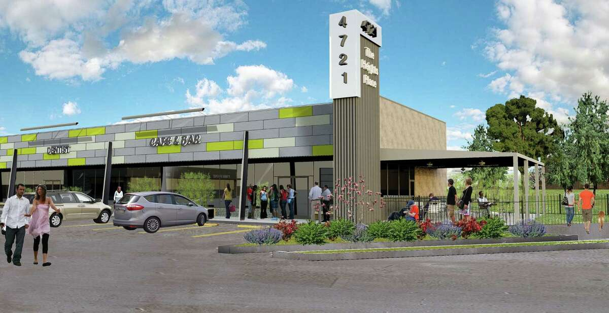 A rendering of a 23,000-square-foot retail center to be renovated at 4721 N. Main.