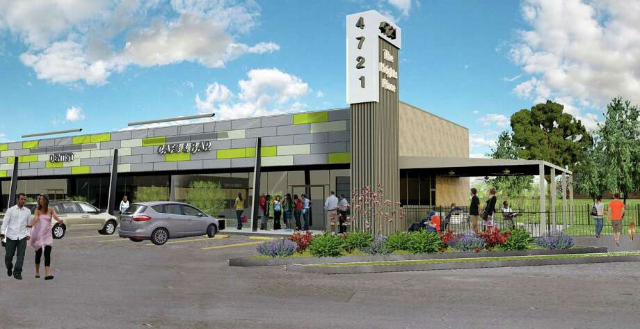 A rendering of a 23,000-square-foot retail center to be renovated at 4721 N. Main. Photo: Courtesy Of Braun Enterprises