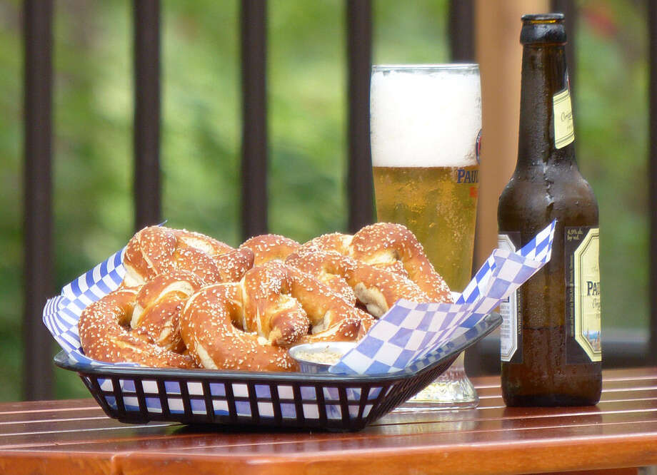 Serve salted soft pretzels, such as these from Gustav's Garden, as a World Cup game-time snack. Wash them down with a good light beer to keep the Texas heat at bay. Photo: Express-News File Photo / San Antonio Express-News