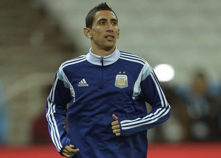 Key Argentina midfielder Angel Di Maria, who missed the semifinals with a thigh injury, is trying to recover for the final. Photo: Juan Mabromata, AFP/Getty Images