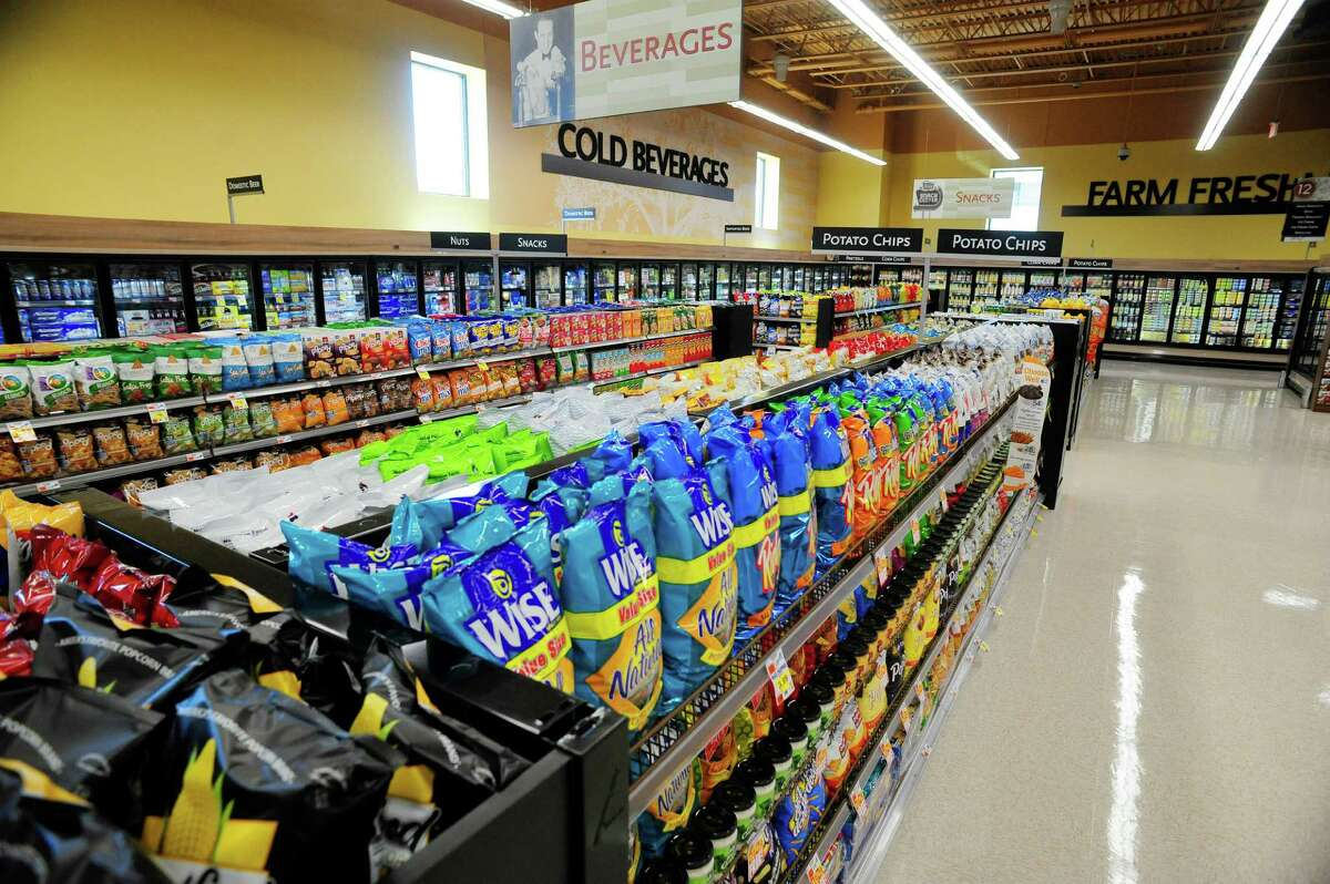 A view of the chips and beverage section inside the new Price Chopper store on Thursday, July 10, 2014, in Watervliet, N.Y. The store grand opening is on Friday, July 11th. (Paul Buckowski / Times Union)