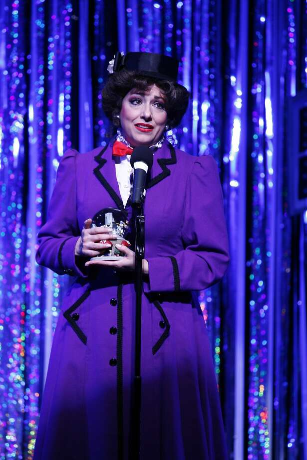 "Gina Kreiezmar as Mary Poppins in ""Forbidden Broadway: Alive & Kicking!"" Photo: Carol Rosegg"