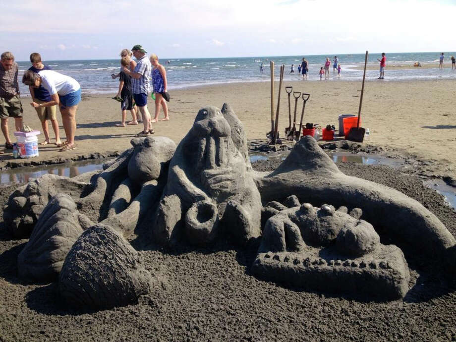 Milford's Great American Sand Sculpture Competition takes place rain or shine on Saturday. Find out more.  Photo: Contributed Photo / Connecticut Post Contributed