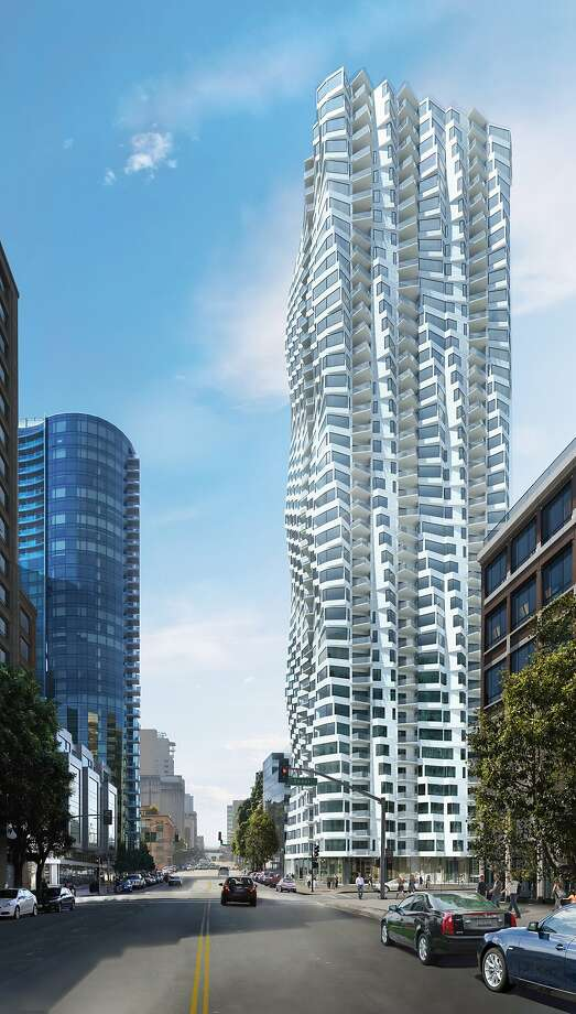 The proposed residential tower at 160 Folsom St. by architect Jeanne Gang for developer Tishman Speyer. It would rise one block inland from the Embarcadero. Photo: Studio Gang