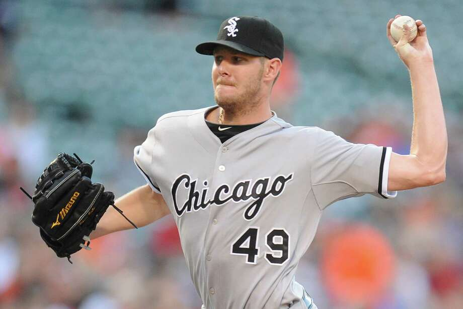 BALTIMORE, MD - JUNE 23:  Chris Sale #49 of the Chicago White Sox pitches in the first inning during a baseball game against the Chicago White Sox on June 23, 2014 at Oriole Park at Camden Yards in Baltimore, Maryland.  (Photo by Mitchell Layton/Getty Images) Photo: Mitchell Layton, Stringer / 2014 Getty Images