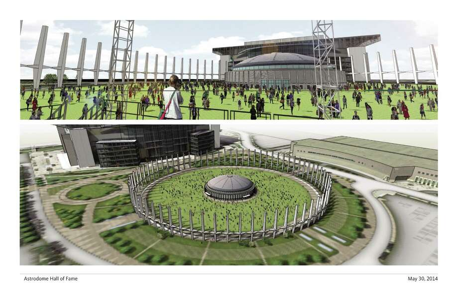 The Houston Livestock Show and Rodeo and the Texans suggest knocking down the Astrodome but preserving its heritage with columns and green space. Photo: Renderings Courtesy Of Gensler / Renderings courtesy of Gensler