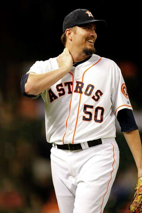 Chad Qualls is happy with the Astros but knows the nature of baseball means a trade is possible. Photo: Karen Warren, Staff / © 2014 Houston Chronicle
