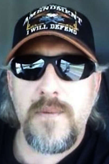 Chris Davis, 37, a truck driver, is leading a citizen militia of 'Patriots' who want to 'secure the border.'